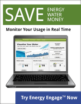 Save Energy, Water, Money by monitoring your usage in real time. Try Energy Engage™ now!
