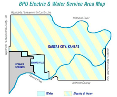 BPU Electric & Water Service Area Map